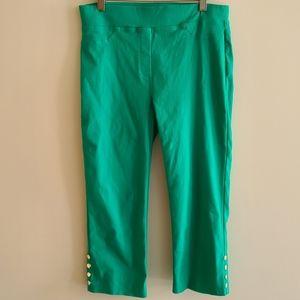 Joseph Ribkoff green capris size 6 retro feel